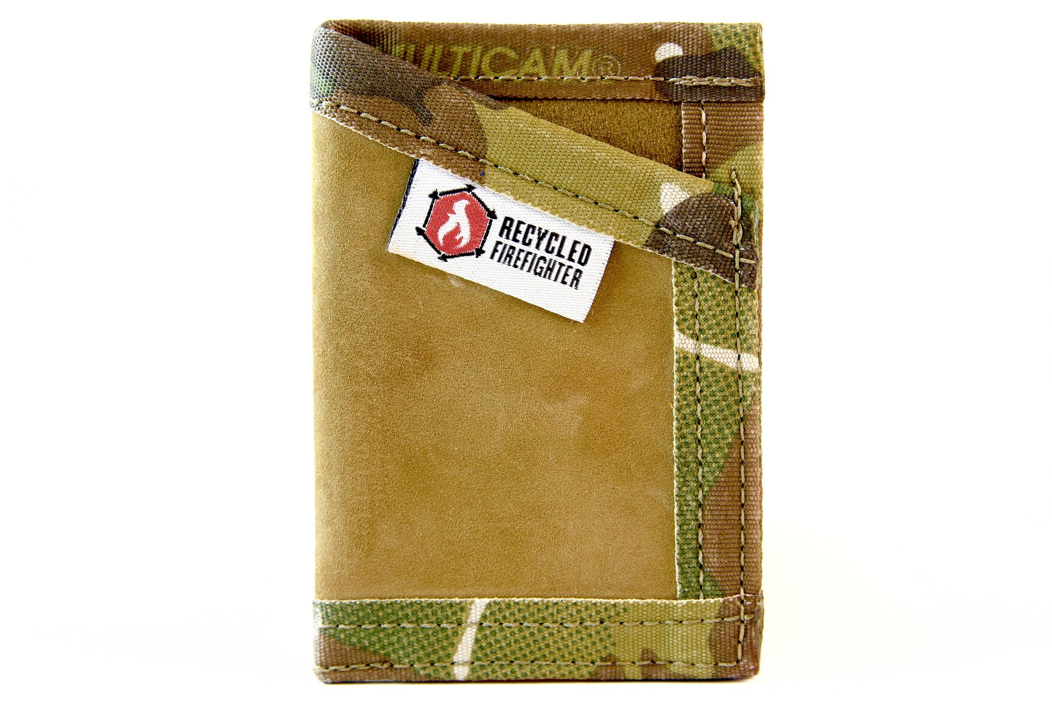 """Leather Money Clip Wallet – """"Combat Boot Leather"""" - Recycled + Waterproof + Fireproof +Made in USA - Unique Wallets for Men (Coyote & MultiCam) …"""