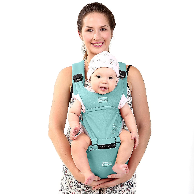 BeeViuc Mochila Portabebé Ergonómica Multifuncion 6 Modos Para Porta Bebe Con Para 3-36 Meses y 0-20 KG - Azul