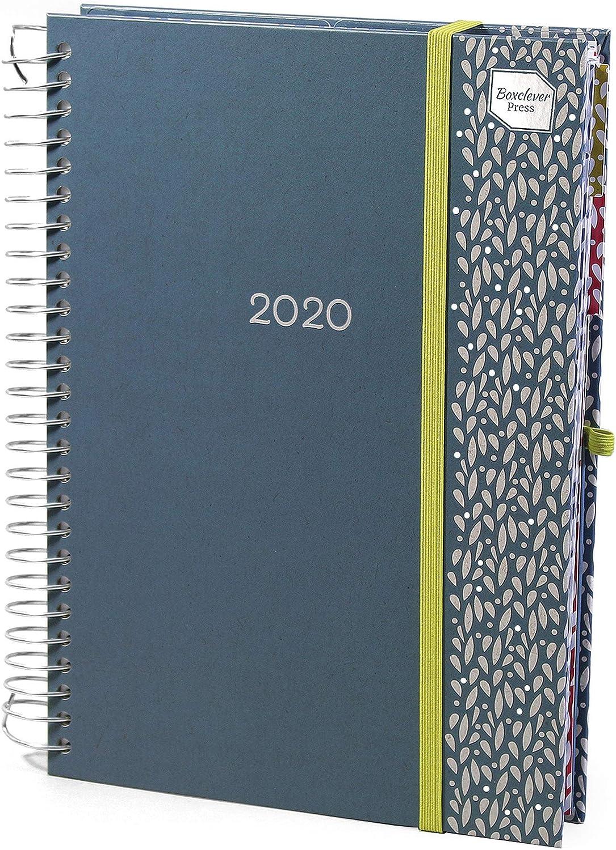 Boxclever Press Life Book Agenda 2020. Grande espacio cada día, ideal para familias o gente ocupada. Planificador semanal con listas de la compra. Comienza ahora y se extiende hasta diciembre 2020
