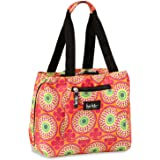 "Nicole Miller Insulated Lunch Bag - 11"" Womens Designer Lunch Tote Cooler (Kaileidoscope Orange)"