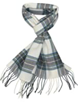 Écharpe tartan de Lovarzi pour homme et femme - fabriquée en Écosse - Écharpes Tartan pure laine