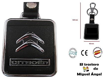 ETMA Llavero Cuero y Metal Compatible con Citroen lla017-6 ...