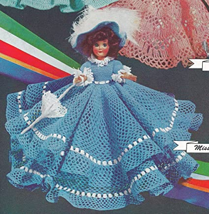 Amazon Vintage Crochet Pattern To Make 8 Doll Clothes Dress