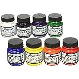 Jacquard Textile Color Primary & Secondary 8 Colour Set Acrylic Paint, Pack of 8