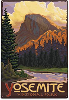 product image for Lantern Press Yosemite National Park, California, Half Dome (12x18 Aluminum Wall Sign, Wall Decor Ready to Hang)
