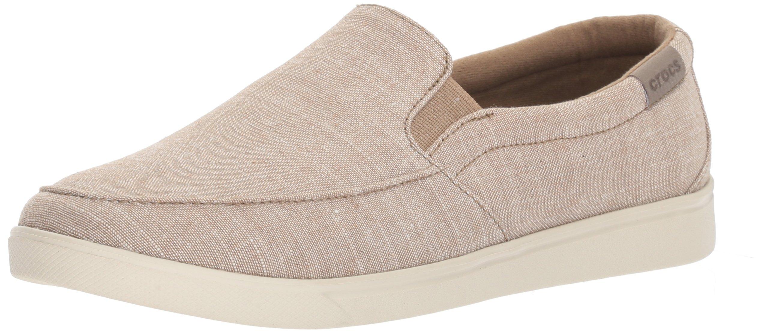 Crocs Women's Citilane Low Slipon W Sneaker, Khaki, 7 M US