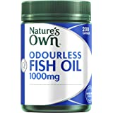 Nature's Own Odourless Fish Oil 1000mg - Source of Omega-3 - Maintains Wellbeing - Supports Healthy Heart & Brain, 200 Capsules