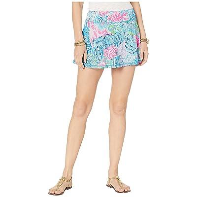 Lilly Pulitzer UPF 50+ Luxletic Meryl Nylon Aila Skort Multi Sink Or Swim LG at Women's Clothing store