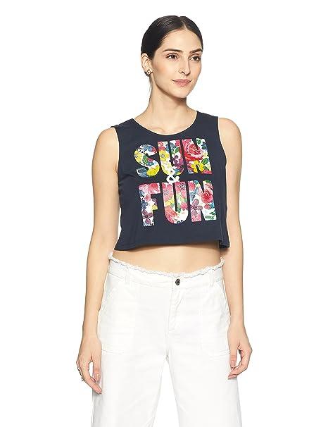 VERO MODA Women's Solid T-Shirt Women's T-Shirts at amazon