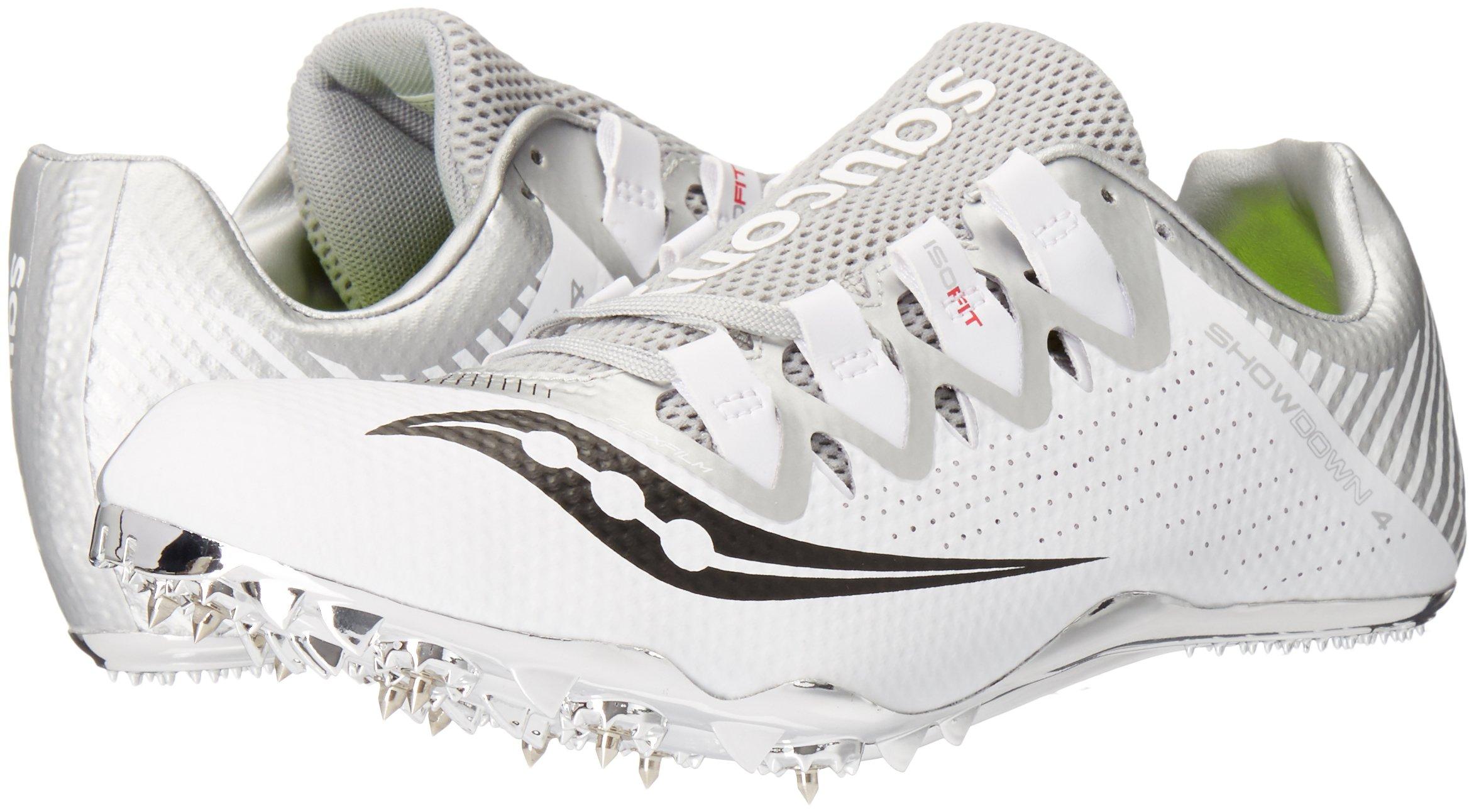Saucony Women's Showdown 4 Track Shoe White/Silver 10 M US by Saucony (Image #6)