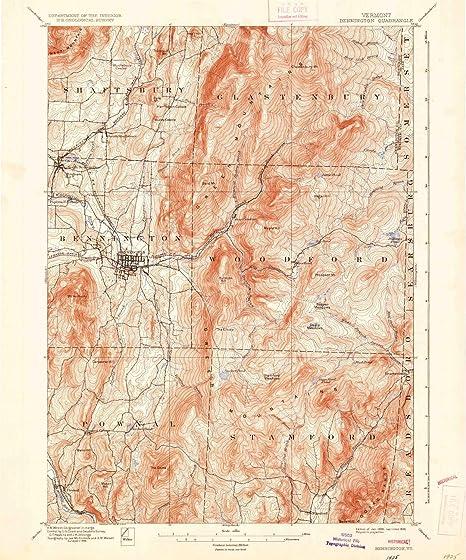 Amazon.com : YellowMaps Bennington VT topo map, 1:62500 Scale, 15 X ...