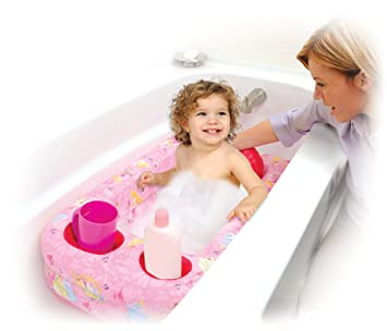 Amazon.com : Disney Princess Inflatable Safety Bathtub, Pink ...