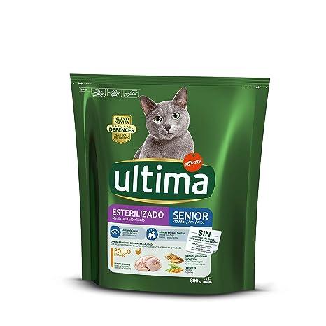 ultima Pienso para Gatos Esterilizados Senior con Pollo - 800 gr ...