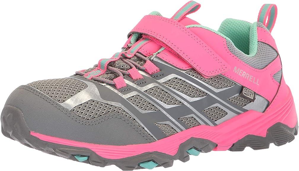 Merrell M-Moab Fst Low A/C Waterproof, Zapatillas de Senderismo Unisex Niños, Gris (Grey/Coral), 29 EU: Amazon.es: Zapatos y complementos