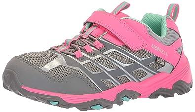 2eb8cdd78356 Merrell Girls  Moab FST Low a C Waterproof Hiking Shoe