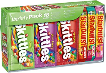 SKITTLES & STARBURST Full Size Candy Variety Mix 18-Count Box