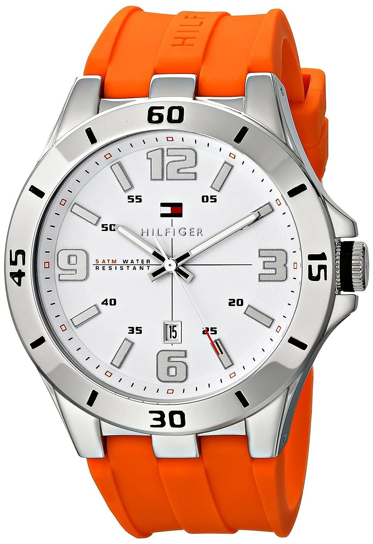Buy Tommy Hilfiger Men S 1791063 Analog Display Quartz Orange