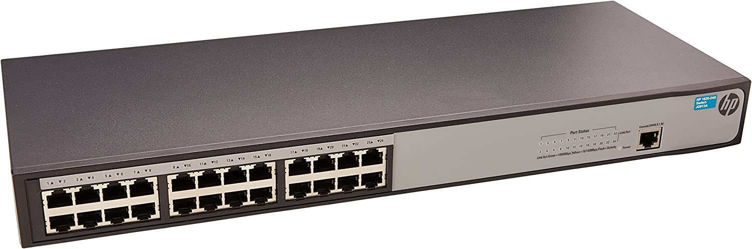 HP JG913A HPE Office Connect 1620-24G Switch (Renewed)
