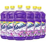 FABULOSO All Purpose Cleaner, Lavender, Bathroom Cleaner, Toilet Cleaner, Floor Cleaner, Shower and Glass Cleaner, Mop…
