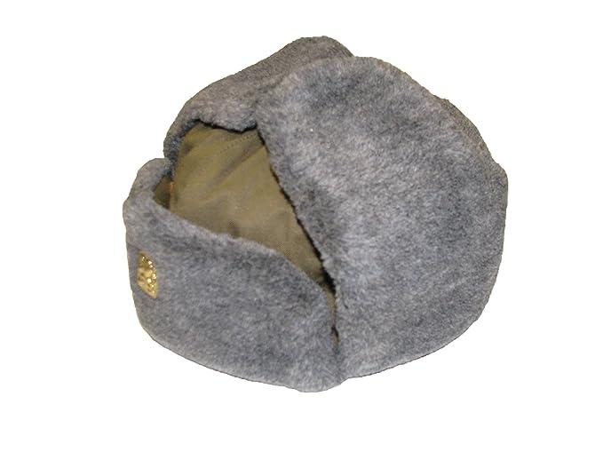d2b30a73b Genuine Czech Army Issue Winter Grey Fur Olive Trapper Ushanka Hat ...