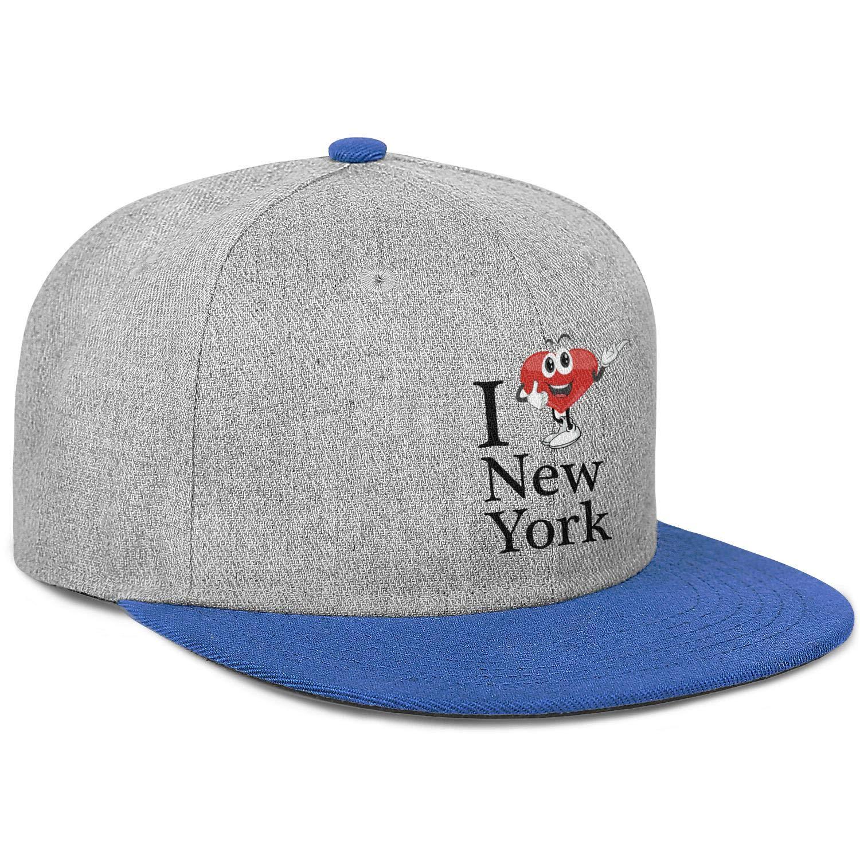 Men Womens Baseball Hat Cute I Love New York Snapback Casual Cap