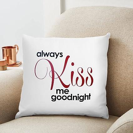 Always kiss me good night Pillow Case Set Wedding Gift