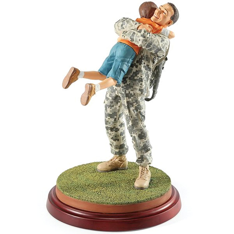 Thomas Blackshear Coming Home Army Figurine Ebony Visions Father Son White Soldier Veteran