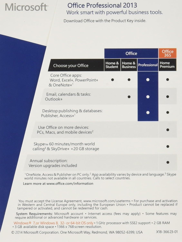 Amazon.com: Microsoft Office 2013 Professional 32/64-bit