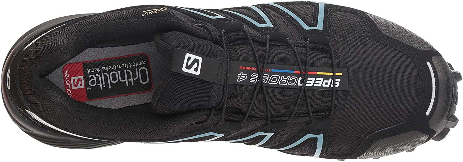 Salomon Speedcross 4 Gtx W, Chaussures De Trail Femme Noir Black Metallic Bubble Blue