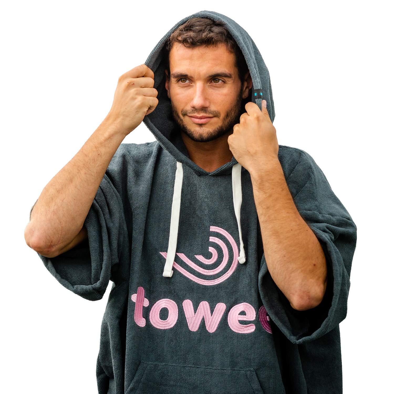 Poncho de Surf Id/éal pour Les Femmes et Les Hommes Towee Surf Poncho Serviette Poncho