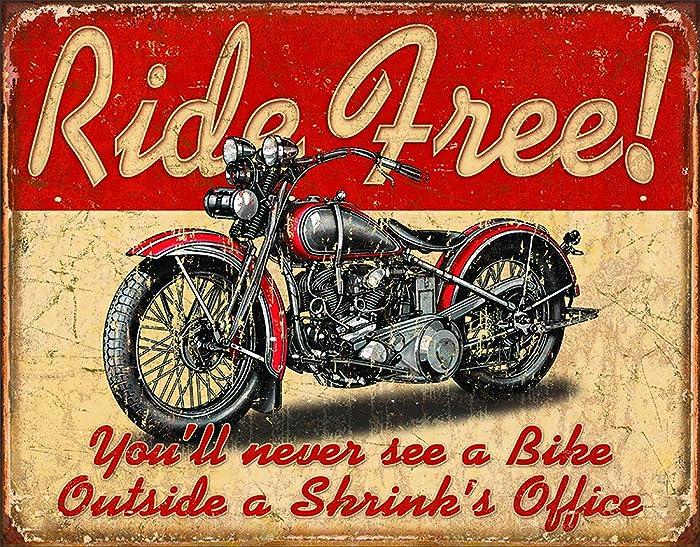 "Desperate Enterprises Ride Free Tin Sign, 16"" W x 12.5"" H"