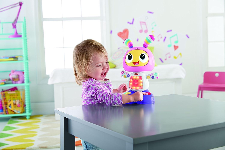 version espagnole 9 mois et plus Fisher-Price Mon Amie Beba le Robot jouet b/éb/é d/éveil avec 3 modes de jeu FBC99