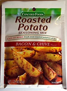 Concord Foods Roasted Potato Seasoning Mix - Bacon & Chive Flavor - 3 of 1.25 oz pkgs