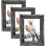 eletecpro Picture Frames 5x7 Made of Solid Wood Set of 3 with High Definition Glass Display for Tabletop or Wall Decor