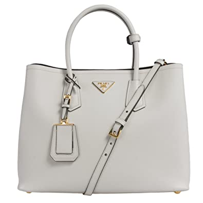 18f4d386ea7e Amazon.com: PRADA B2756T Bag - F0K74 Talco (Chalk White) Saffiano Cuir Leather  Tote: Shoes