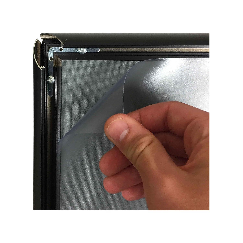 Porte menu ext/érieur en aluminium noir pour affiche A3