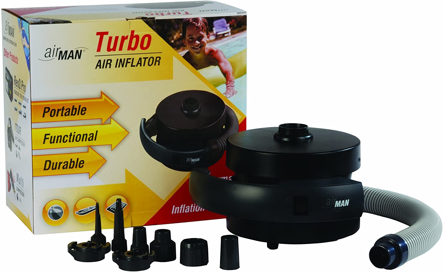 AirMan 54-020-021 Turbo Cordless Rechargeable High Volume and High Performance Air Inflator