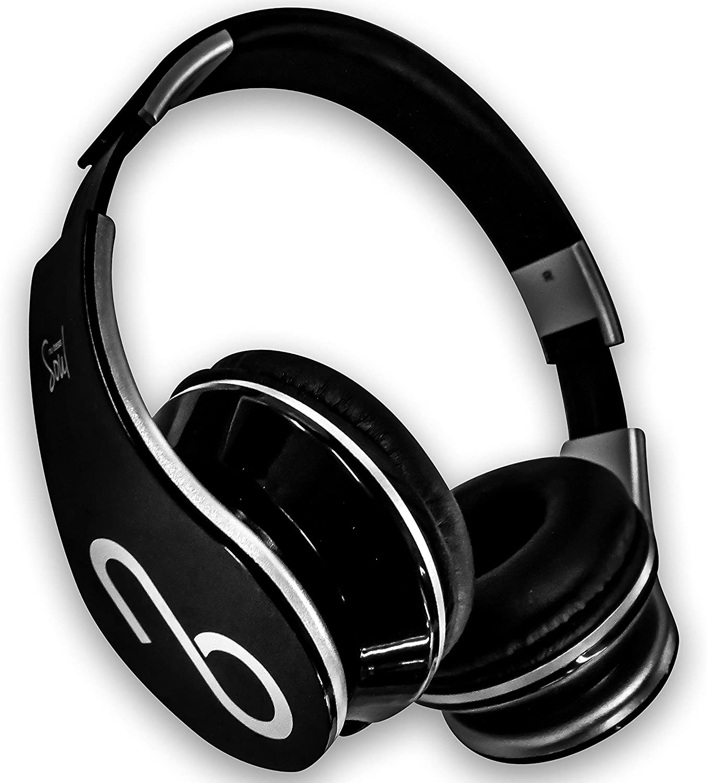 Alma–Auriculares con Cable de Graves Nu/Sonido de Alta claridad Rendimiento/Premium Desmontable 1,2m Cable de Entrada de línea/Diadema Ajustable/Plegable