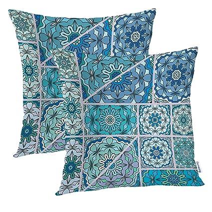 Amazon.com: Batmerry Vintage Pillow Covers 18x18 Inch Set of ...