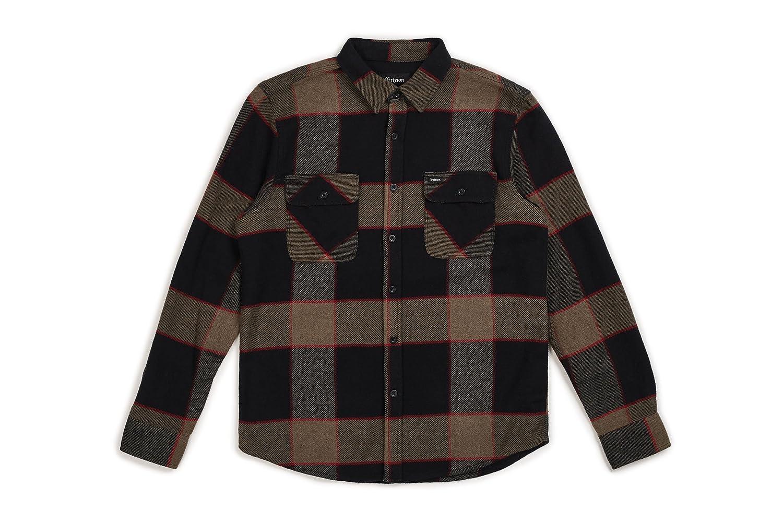 TALLA S. Brixton Bowery L/S Flannel Camisa de Botones para Hombre