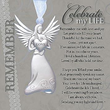 Amazoncom Memorialremembrance Angel Ornament With Celebrate My