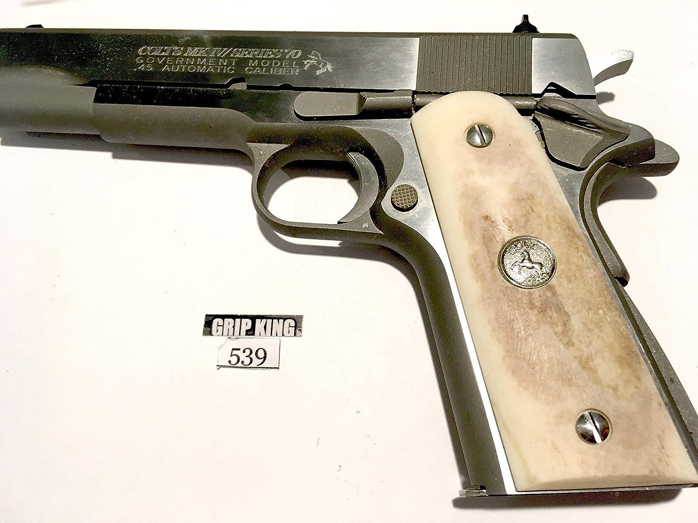 1911 GRIPS FITS COLT FULL SIZE GENUINE BUFFALO BONE # 539. SALE $39.88