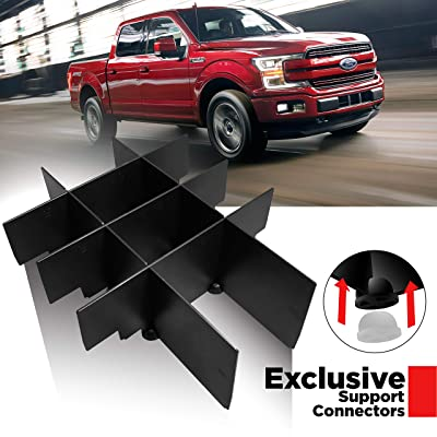 #1 Center Console Organizer for Ford F 150-2015 - 2020 Insert Divider for F150 Accessories (Full Console with Bucket Seats ONLY) W/Support Brackets Proudly by T1A: Automotive
