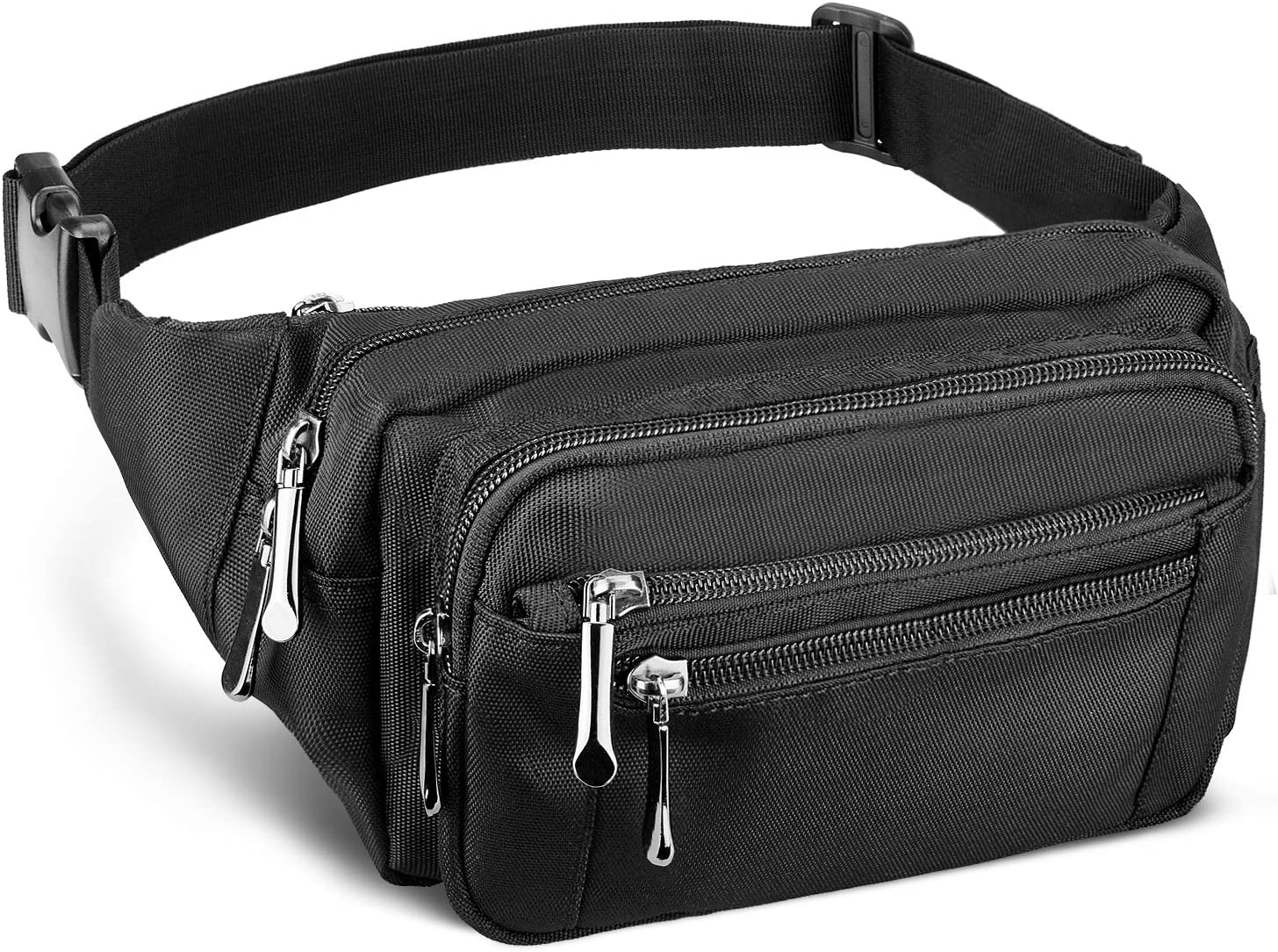 Fanny Pack for Men&Women with Water-Resistant Adjustable Strap Waist Pack Bags for Sports Workout Running Traveling Hiking Cycling Casual Carrying of All Phones: Sports & Outdoors