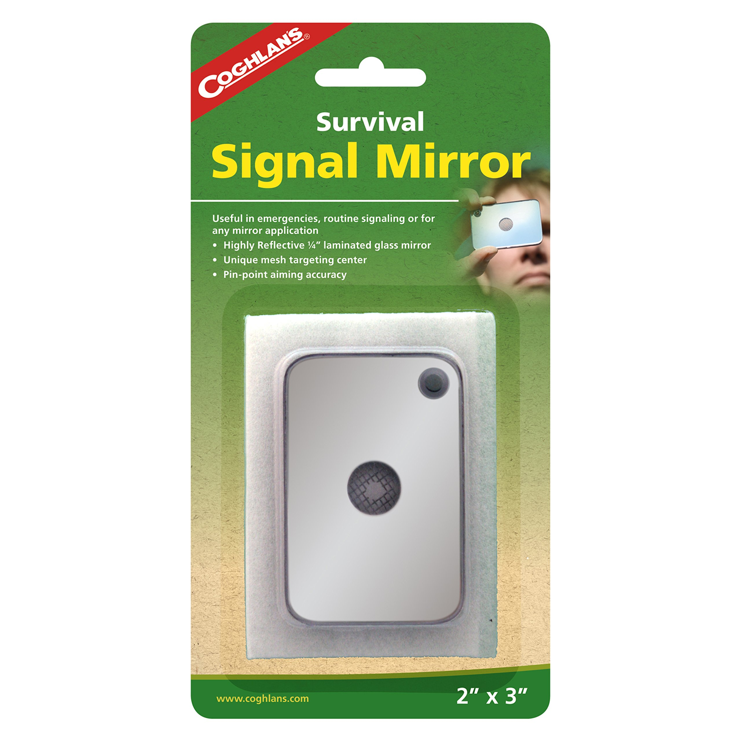 Coghlan's Signal Mirror, Silver, 2'' x 3''