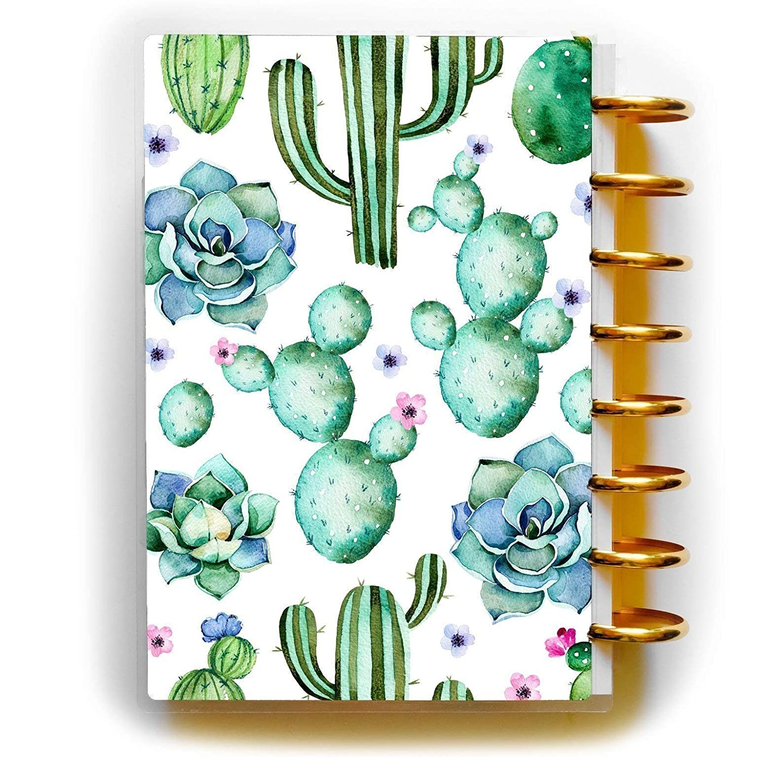 Succulent Planner Cover for Disc-bound Happy Planner Staples