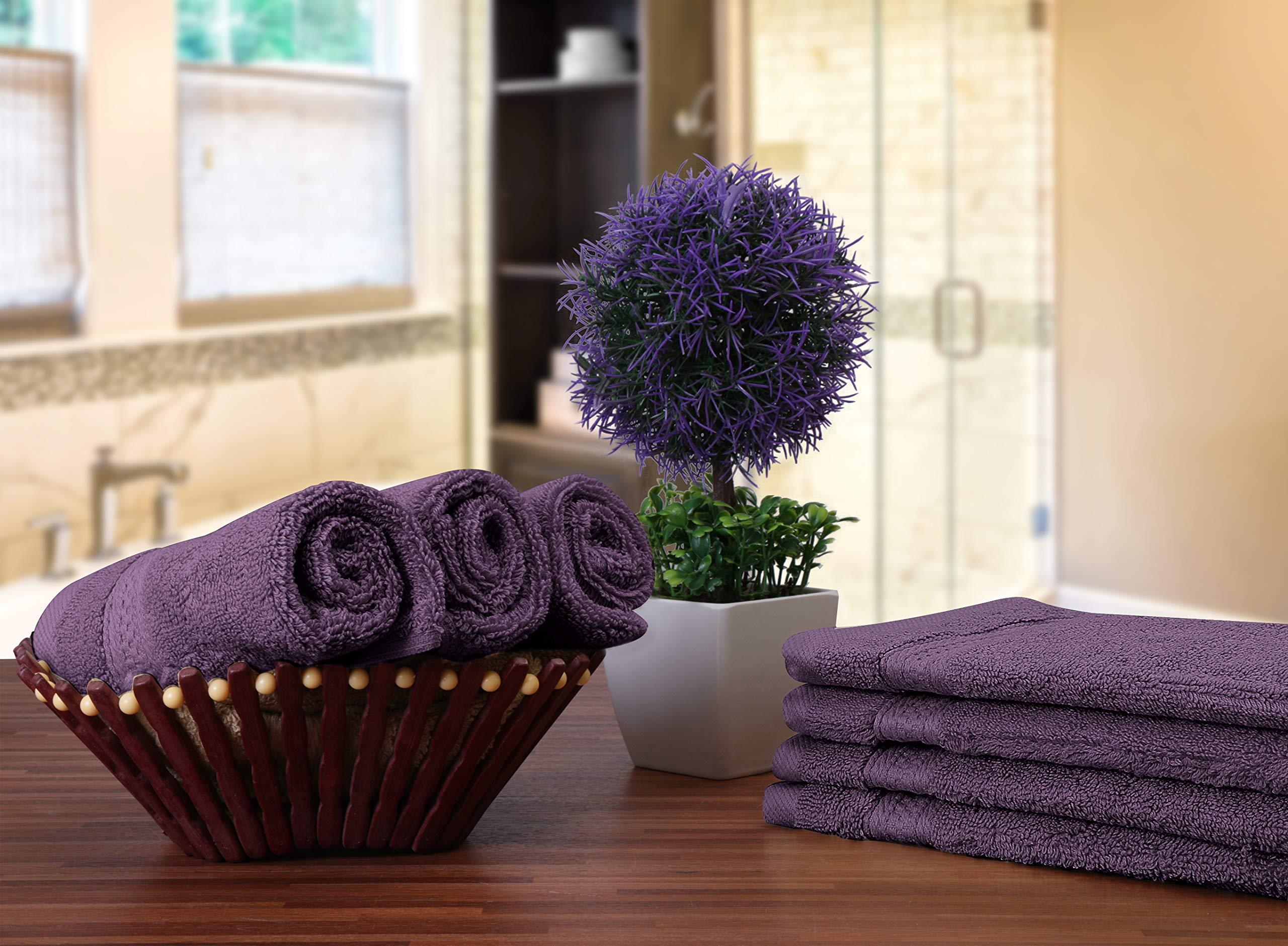 Utopia Towels Premium 252 Pack 700 GSM Cotton Washcloths Bulk– (12 x 12 Inches Face Towels Bulk) Extra Soft Wash Cloths, Plum by Utopia Towels (Image #4)