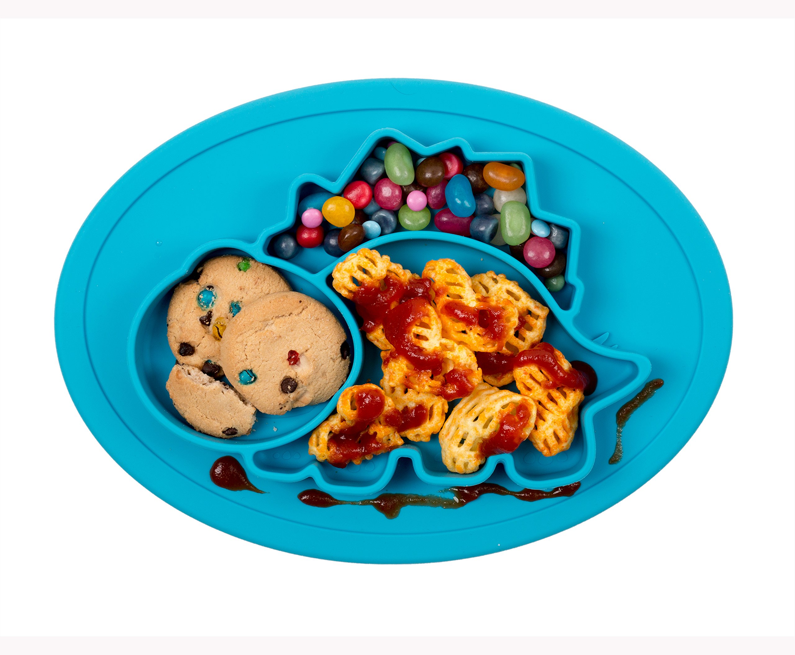Amazon.com : Qshare Toddler Plates, One-Piece Baby Plate for Babies ...