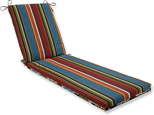 Pillow Perfect Outdoor/Indoor Annie / Westport Chocolate Brown Chaise Lounge Cushion 80x23x3,Multicolored