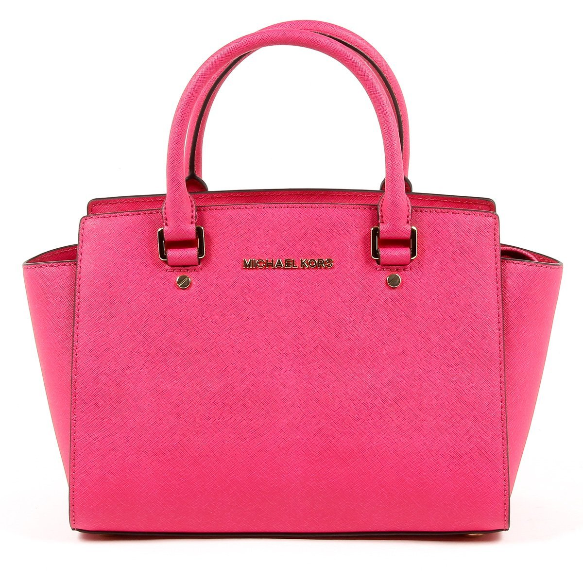 Michael Kors Selma Medium Tz Satchel Raspberry Leather